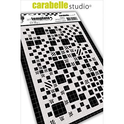 Carabelle Studio Art Template Schablone, Kosmische Würfel von Alexi zum gestalten von Gemusterten Hintergründen und Erstellen von Kunstwerken und Bastelprojekten -