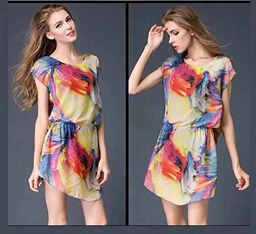 Carhartt Shirt Kleinkinder (XJoel Europa und die Vereinigten Staaten große Yards Frauen neue Sommer elegante Kurzarm - Chiffon - Shirt Druck Kleid)