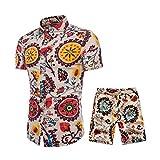 Subfamily Trajes de Hombre Camisetas Transpirables + Pantalones Cortos Conjuntos de Hombres Más el tamaño M-5XL