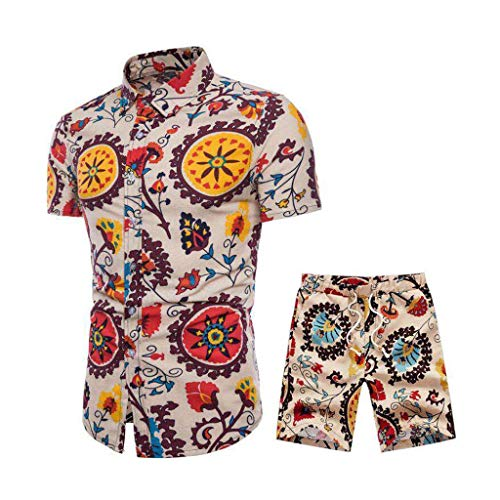 Herren Overall Sleeve And Short Pants Printing Men's Suit Summer New Comfortable Fashion Short Jumpsuit
