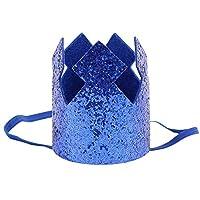 duanlidong Birthday Caps Flower Crown 1st Birthday Hat Newborn Baby Birthday Headband 1 Year Birthday Party Blue hat