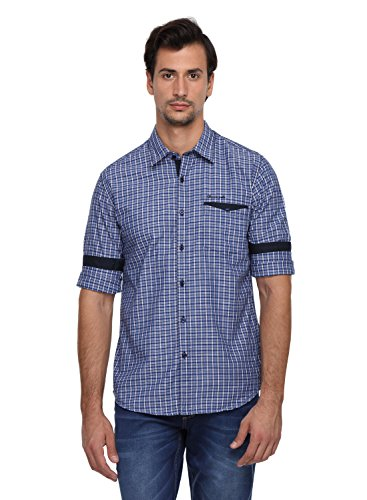 Classic Polo 100% Cotton Men's Checkered Full Sleeve Slim Fit Casual Shirt