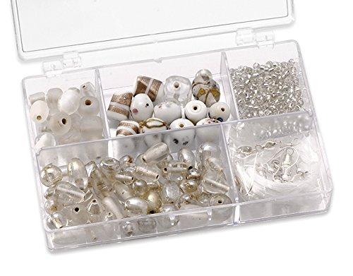 KnorrPrandell 216049000 Sortimentsbox Glasperlen weiß klein