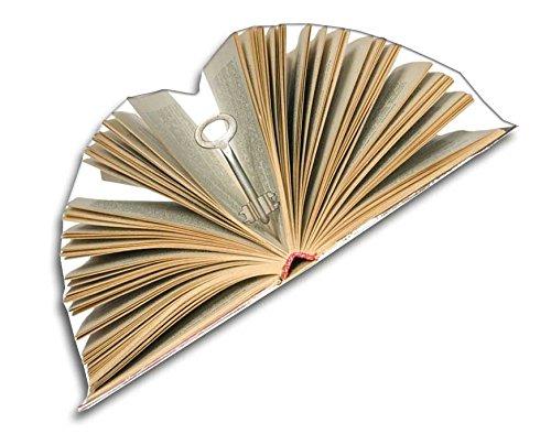 Magnettafel Bücherei – Märchenhafte Design Metall Magnetpinnwand 60×40 cm – Memoboard Pinnwand mit Motiv: Bücherregale Bibliothek – inkl. 8 Magnete Fliegende Bücher für Magnetwand – Original GUMA Magneticum® - 6