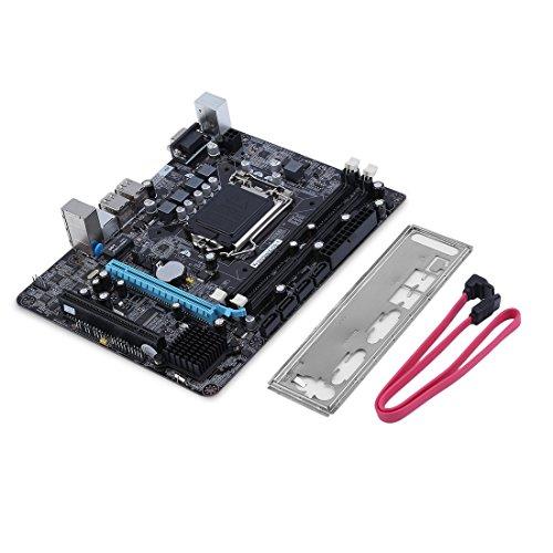 6 Canales Placa Base P55-A-1156 Placa Madre computadora de Escritorio de Alto Rendimiento Interfaz de CPU Placa Base LGA 1156