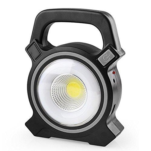 GOGO GO gogogo-Solar-Flutlicht, 50W, USB, wiederaufladbar, LED-Lampe, für den Außenbereich, mit Camping-Lampe