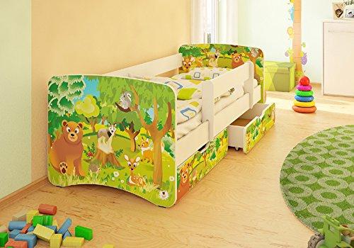Kinderbett 2 Schubladen Viele Designs 90x180 cm