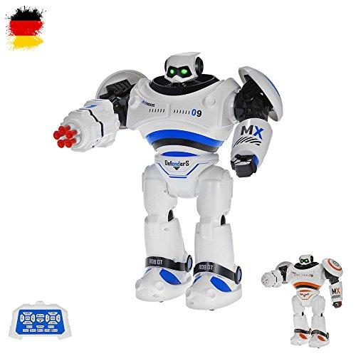 HSP Himoto RC Ferngesteuerter Kampf Roboter mit LED-Beleuchtung, fernsteuerbar und programmierbar, mit vielen Besonderheiten wie Musik, Tanz- und Schussfunktion, OVP