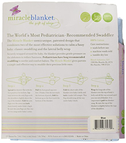 Miracle Blanket 15799 Swaddle, Blue, One Size