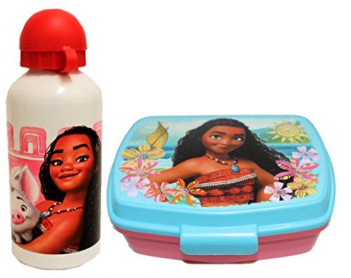 Vaiana Disney Moana Brotdose und Aluminium Trinkflasche (Weiß)