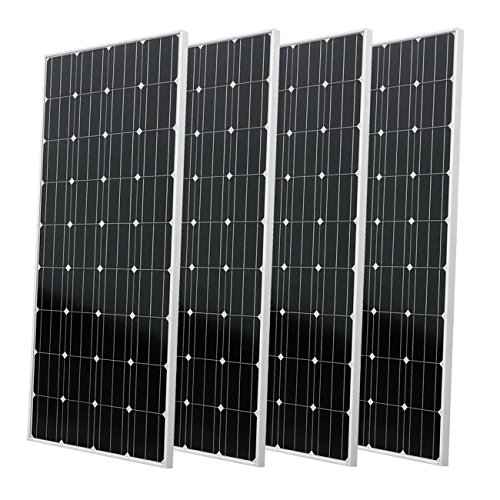 ECO-WORTHY 600W auf Grid Tie Solar Panel System: 4 160 W Mono Solarmodul W/600 W Wasserdicht Grid Tie Power Inverter für Home Backup Power -