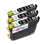 *TiToPaten®* 3 Druckerpatronen kompatibel zu Epson WorkForce WF-2630 WF in Schwarz