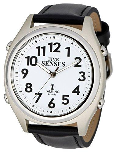 Atomic Talking Watch-setzt Sich Fünf Sinne Unisex Sprechende Armbanduhr (sens-rctk-p201-13) (M104) - Digitale Radio Atomic Clock
