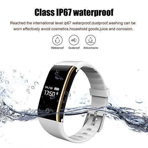 Pulsera de Actividad Inteligente    Pulsera Inteligente con Monitor de Ritmo Cardíaco Calorías Sueño Impermeable IP67 Reloj Inteligente Mujer y Hombre Compatible con IOS y Android