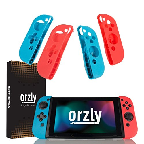 FlexiCase Orzly (Confezione 4) per Joy-Cons Switch – Due...