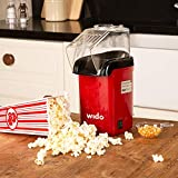 Wido Popcorn Maker Electric Healthy Cooking Cinema Hot Air Movie Popper 1200W
