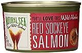 Natural Sea - Salmones rojos salvajes de Alaska Sockeye ninguna sal agregada - 7,5 oz.