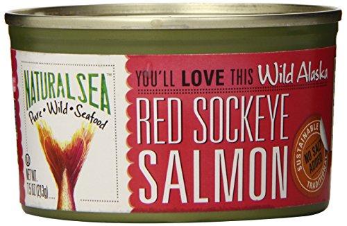 Natural sea - salmoni che rossi selvaggi dell'alaska sockeye nessun sale ha aggiunto - 7,5 oncia.