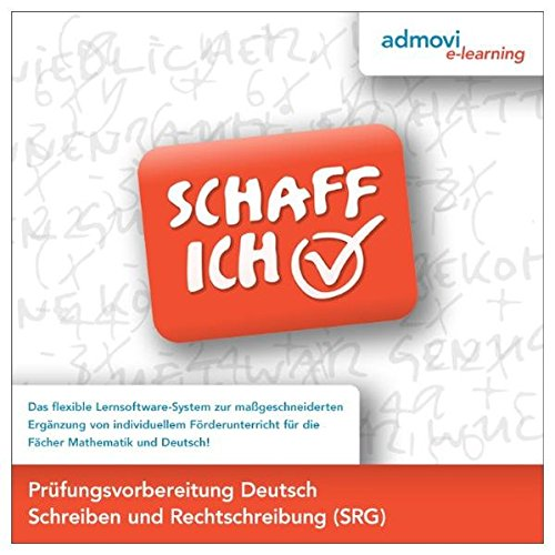 g Deutsch - Schreiben und Rechtschreibung: Schaff-Ich - Die Lernsoftware Deutsch zur individuellen Förderung Jugendlicher und junger Erwachsener zur Vorbereitung auf den Schulabschluss ()