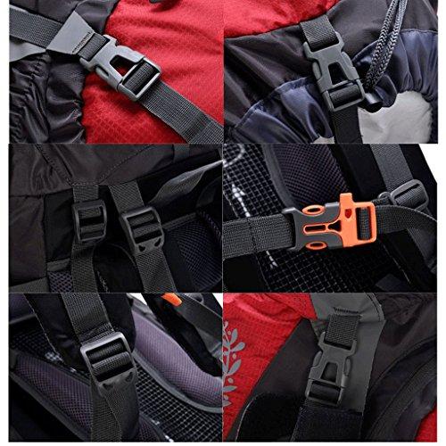 sacchetto di alpinismo professionale di grande capacità 80L85L pacchetto esterno di viaggio zaino campeggio trekking tenda ALICE nero