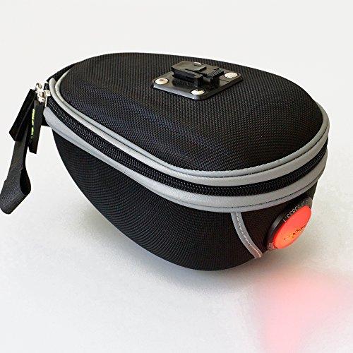 Fahrrad-Tasche mit roter LED -2689-Sattelstützentasche für Fahrrad