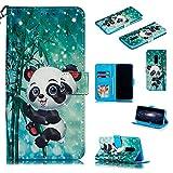 Nadoli Wallet Handyhülle für Galaxy S9 Plus,Kreative 3D Karton Panda Muster Taljereep Ständer Flip Ledertasche Brieftasche Schutzhülle Etui für Samsung Galaxy S9 Plus