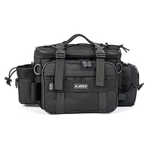 Lixada Pesca Multifuncional Tackle Bolsa Deportes al Aire Libre de un Solo Hombro Bolsa Bandolera Bolsa Cintura Pack Señuelos (Negro)