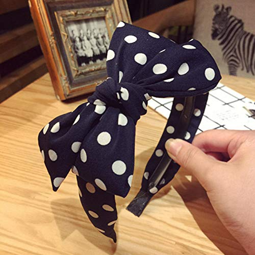 A+TTXH+Headband Frauen-Dame Girls Fabric Ribbon Bow rutschfeste Erweiterte Haar Stirnband Ornamente Haarbänder Headwear @ Random_Color_3Pcs -