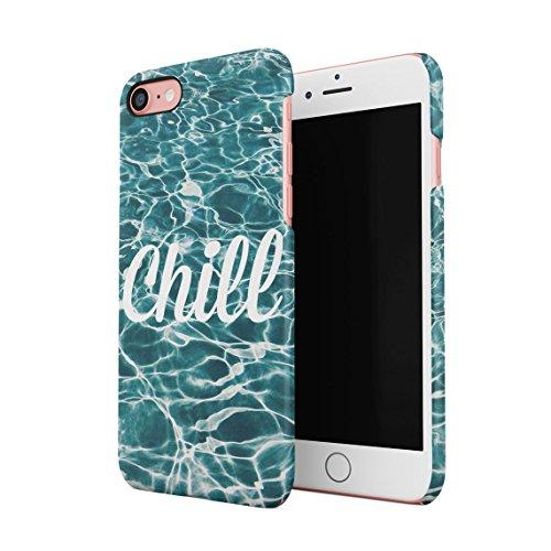 Trippy Blue Smoke Relax Dünne Rückschale aus Hartplastik für iPhone 7 & iPhone 8 Handy Hülle Schutzhülle Slim Fit Case cover Pool Chill