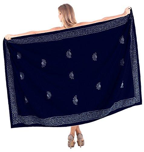 Strandabnutzung Rayon Badeanzug Bikini Rock Badebekleidung Frauen bestickt Sarong Blau|Uns: 36W (3X) / Großbritannien: 38