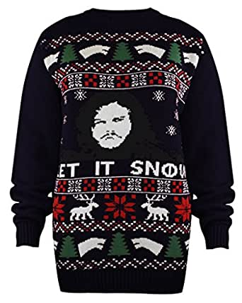 New Unisex Mens Ladies Womens Game of Thrones Christmas Xmas Jumper Sweater Top 8-16, GAME OF THRONES NAVY, UK SIZE M/L