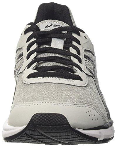 Asics Gel-galaxy 9, Chaussures De Course Multicolores Pour Homme (gris Moyen / Noir / Argent)
