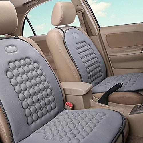 HermosaUKnight Coprisedile per Auto Universale Coprisedile Traspirante Sedile Confortevole Cuscino Rotondo Grigio