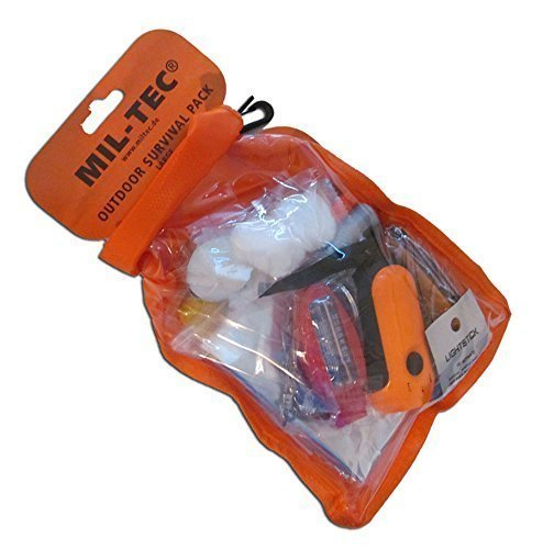 Pack outdoor de survie, large (orange)