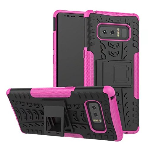 YHUISEN Galaxy Note 8 Fall, Hyun Muster Dual Layer Hybrid Rüstung Kickstand 2 in 1 Shockproof Case Cover für Samsung Galaxy Note 8 ( Color : Green ) Pink