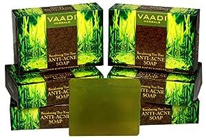 Vaadi Herbals Becalming Tea Tree Soap Anti Acne Therapy, 75g x 6