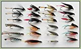 Sea Trout Fishing Flies, 24 Pack Large Hook Wets, Choice of Sizes, For Fly Fishing