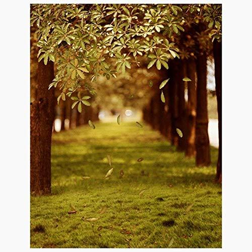 3x5ft Grüne Bäume Wald Feld Garten Natur-Landschaft Grafik Gedruckt Tapete Vinylgewebe Fotografie Hintergründe Bild 12