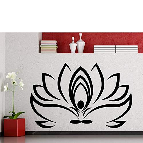 ganlanshu Lotus wandaufkleber Yoga Symbol Sport Fitness Vinyl Aufkleber innendekoration Hause Gym wasserdicht hochwertiges wandbild 158 cm x 102 cm