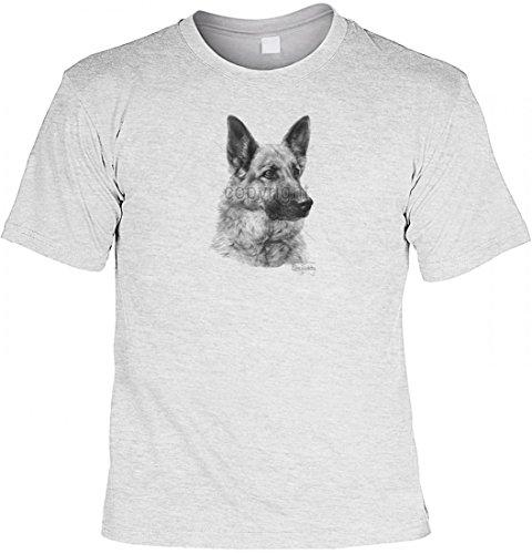 T-Shirt mit Motiv - Deutscher Schäferhund - USA Shirt bedruckt Hund, Größe:XL