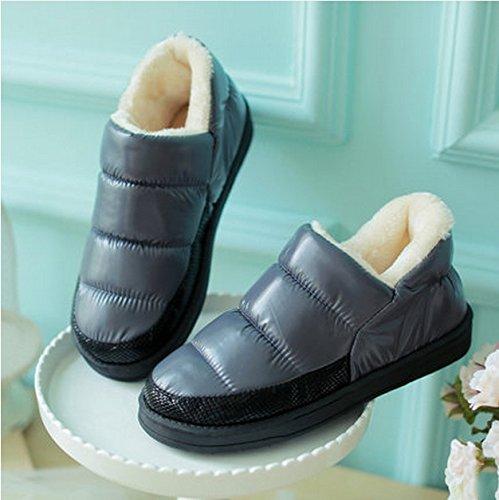 Pantoufles en coton imperméable à l'eau d'hiver mâle base épaisse garder chaud antidérapant pantoufles d'intérieur à domicile ( couleur : # 1 , taille : 44-45 ) # 1