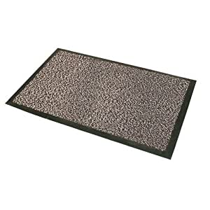 JVL Paillasson d'entrée de bureau absorbant Blanc/noir 90x150 cm