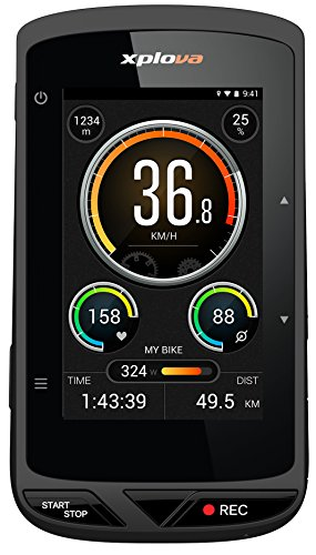 Xplova X5 Smart Bike GPS Computer mit integrierter Kamera, Schwarz/Orange [Italian Version]