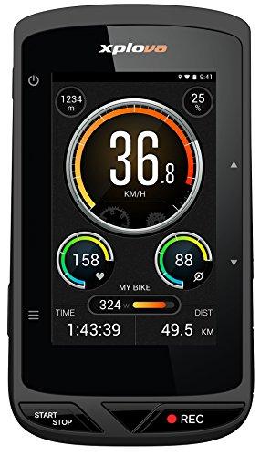 Xplova X5 Smart Bike GPS Computer con Videocamera Integrata, Nero/Arancio