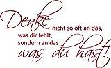 GRAZDesign 720433_40_031 Wandtattoo Wandaufkleber Wand Deko Spruch Denke Nicht Viel für Wohnzimmer (65x40cm//031 Rot)