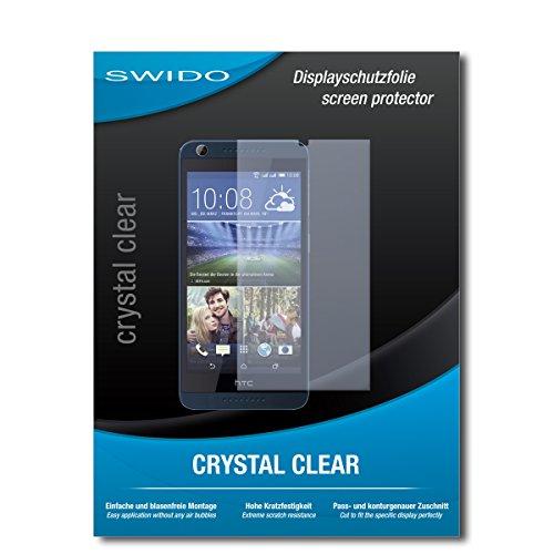 SWIDO Schutzfolie für HTC Desire 626G Dual SIM [2 Stück] Kristall-Klar, Hoher Härtegrad, Schutz vor Öl, Staub & Kratzer/Glasfolie, Bildschirmschutz, Bildschirmschutzfolie, Panzerglas-Folie
