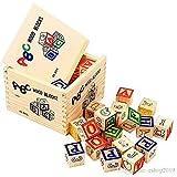 #6: Adichai Alphabet & Number Non-Toxic Wooden ABC &123 Building Blocks (27 Wood Blocks, Size 3Cm Cube) 2018 - Model - Wooden Toys Educational