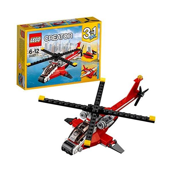 LEGO- Creator Elicottero di Soccorso Costruzioni Piccole Gioco Bambina Giocattolo, Multicolore, 31057 1 spesavip