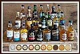 24 Premium Whisky Miniaturen aus Schottland Irland USA Kanada + 24 Edel Schokoladen Confiserie DreiMeister & DaJa kostenloser Versand