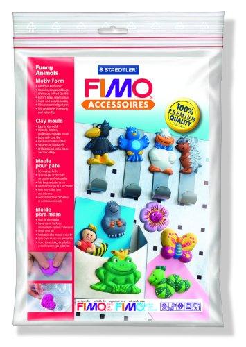 Staedtler 8742 09 Fimo Motiv-Form (lustige Tiere, anspruchsvolle Motive zum detailgetreuen Bemalen, für Modelliermassen wie FIMO classic, FIMO soft, FIMO effect, FIMOair basic, FIMOair) (Halloween Polymer Clay Charms)